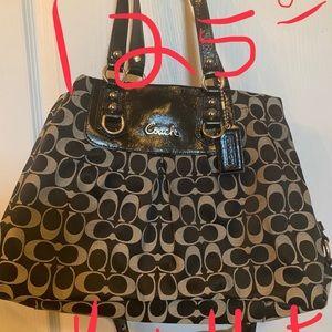 Coach purse black and gold